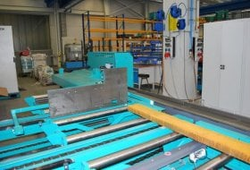 UNIVERSAL MEASURING SYSTEM ON THE OUTFEED SIDE FOR SAWING MACHINES